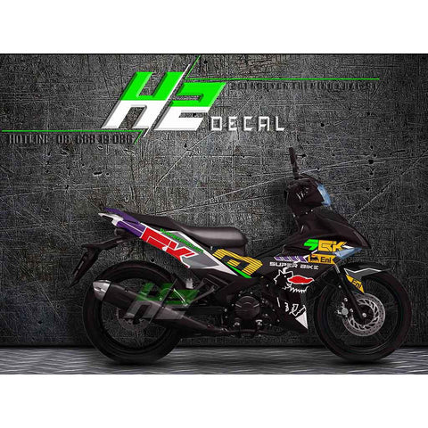 Yamaha Exciter 150 (Y15ZR) Stickers Kit - 029 - H2 Stickers - Worldwide