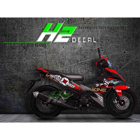 Yamaha Exciter 150 (Y15ZR) Stickers Kit - 030 - H2 Stickers - Worldwide