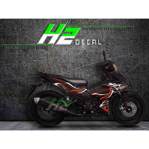 Yamaha Exciter 150 (Y15ZR) Stickers Kit - 031 - H2 Stickers - Worldwide