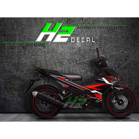 Yamaha Exciter 150 (Y15ZR) Stickers Kit - 033 - H2 Stickers - Worldwide