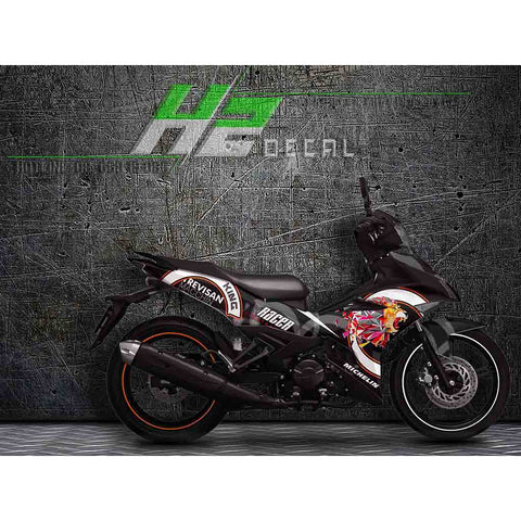 Yamaha Exciter 150 (Y15ZR) Stickers Kit - 037 - H2 Stickers - Worldwide