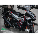 Yamaha Exciter 150 (Y15ZR) Stickers Kit - 025 - H2 Stickers - Worldwide