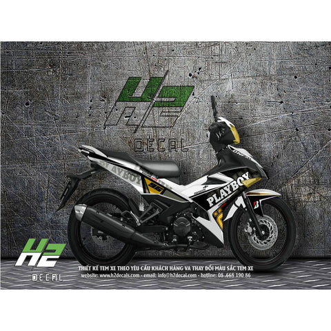 Yamaha Exciter 150 (Y15ZR) Stickers Kit - 010 - H2 Stickers - Worldwide