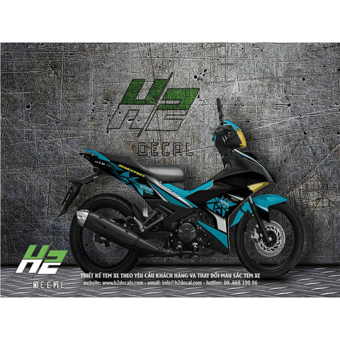 Yamaha Exciter 150 (Y15ZR) Stickers Kit - 011 - H2 Stickers - Worldwide