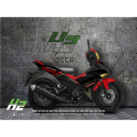 Yamaha Exciter 150 (Y15ZR) Stickers Kit - 012 - H2 Stickers - Worldwide