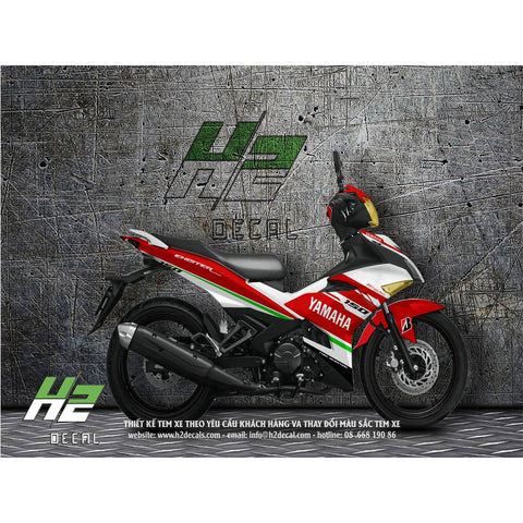 Yamaha Exciter 150 (Y15ZR) Stickers Kit - 013 - H2 Stickers - Worldwide