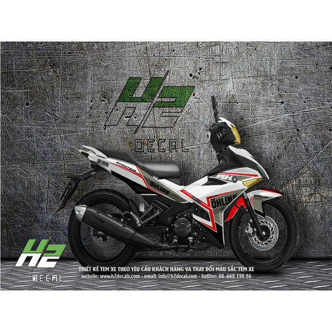 Yamaha Exciter 150 (Y15ZR) Stickers Kit - 015 - H2 Stickers - Worldwide