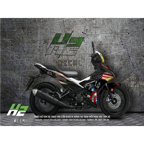 Yamaha Exciter 150 (Y15ZR) Stickers Kit - 007 - H2 Stickers - Worldwide