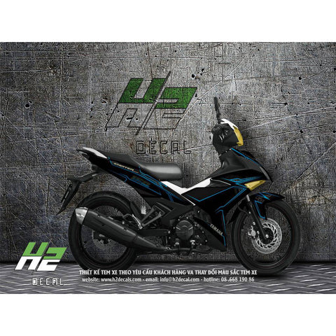 Yamaha Exciter 150 (Y15ZR) Stickers Kit - 008 - H2 Stickers - Worldwide