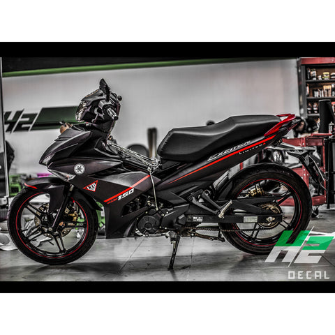 Yamaha Exciter 150 (Y15ZR) Stickers Kit - 054 - H2 Stickers - Worldwide