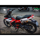 Yamaha Exciter 150 (Y15ZR) Stickers Kit - 057 - H2 Stickers - Worldwide