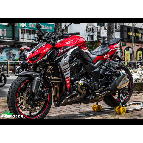 Kawasaki Z1000 Stickers Kit - 021 - H2 Stickers - Worldwide