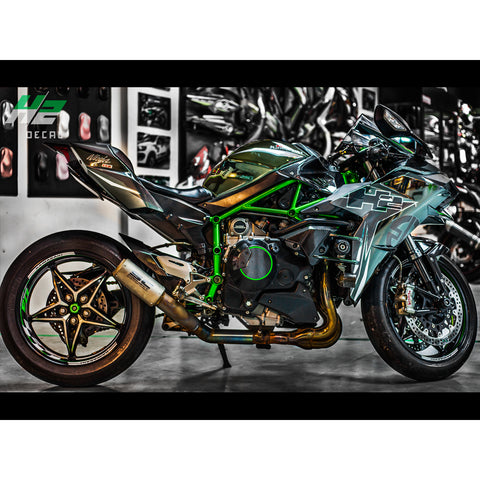 Kawasaki Ninja H2 Stickers Kit - 002 - H2 Stickers - Worldwide