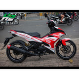Yamaha Exciter 150 (Y15ZR) Stickers Kit - 046 - H2 Stickers - Worldwide