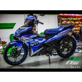 Yamaha Exciter 150 (Y15ZR) Stickers Kit - 055 - H2 Stickers - Worldwide