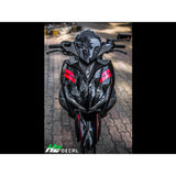 Yamaha Aerox Stickers Kit - 011 - H2 Stickers - Worldwide
