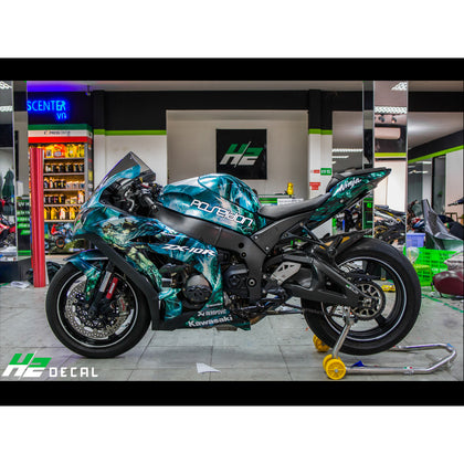 Kawasaki Ninja ZX10R Stickers Kit - 004 - H2 Stickers - Worldwide