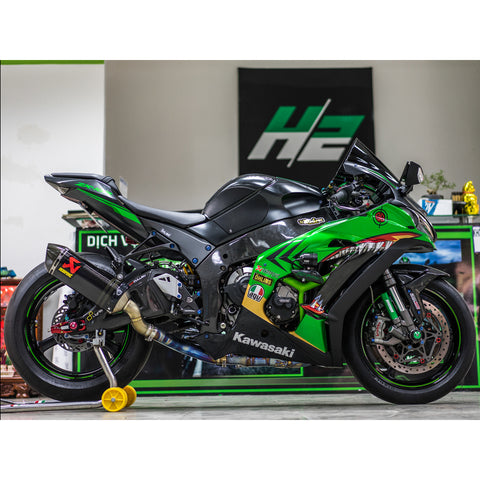 Kawasaki Ninja ZX10R Stickers Kit - 010 - H2 Stickers - Worldwide