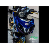 Yamaha Exciter 150 (Y15ZR) Stickers Kit - 049 - H2 Stickers - Worldwide