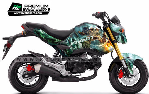 HONDA Grom Stickers Kit - 009 - H2 Stickers - Worldwide