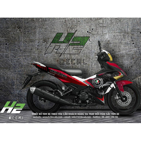 Yamaha Exciter 150 (Y15ZR) Stickers Kit - 002 - H2 Stickers - Worldwide