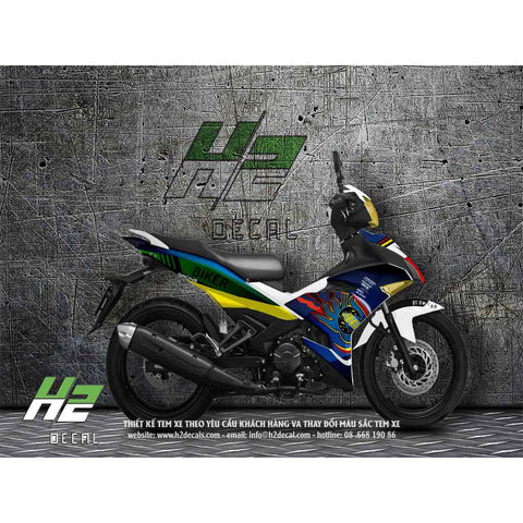 Yamaha Exciter 150 (Y15ZR) Stickers Kit - 003 - H2 Stickers - Worldwide