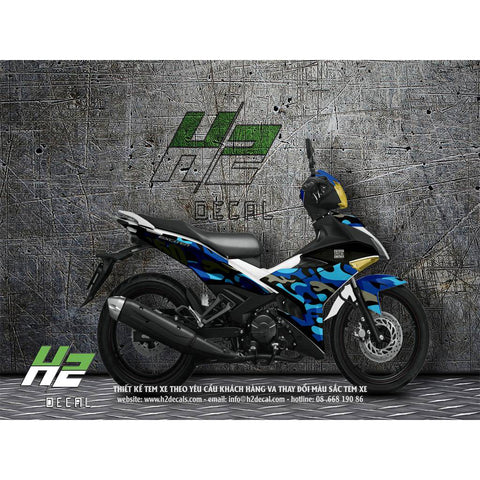 Yamaha Exciter 150 (Y15ZR) Stickers Kit - 005 - H2 Stickers - Worldwide