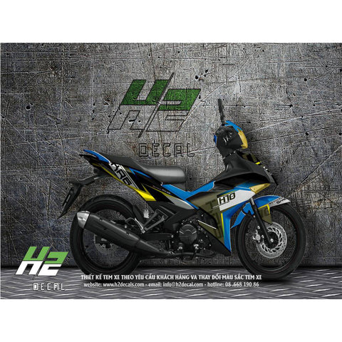 Yamaha Exciter 150 (Y15ZR) Stickers Kit - 006 - H2 Stickers - Worldwide