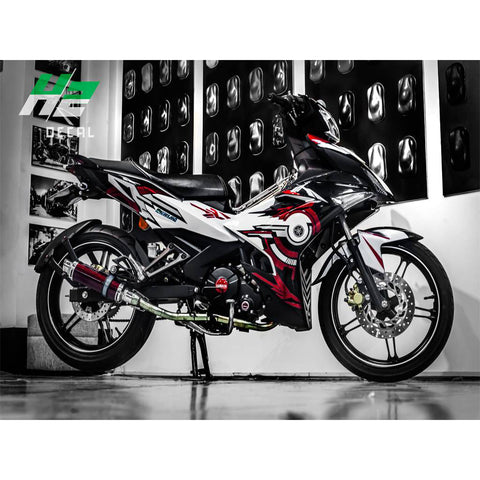 Yamaha Exciter 150 (Y15ZR) Stickers Kit - 020 - H2 Stickers - Worldwide