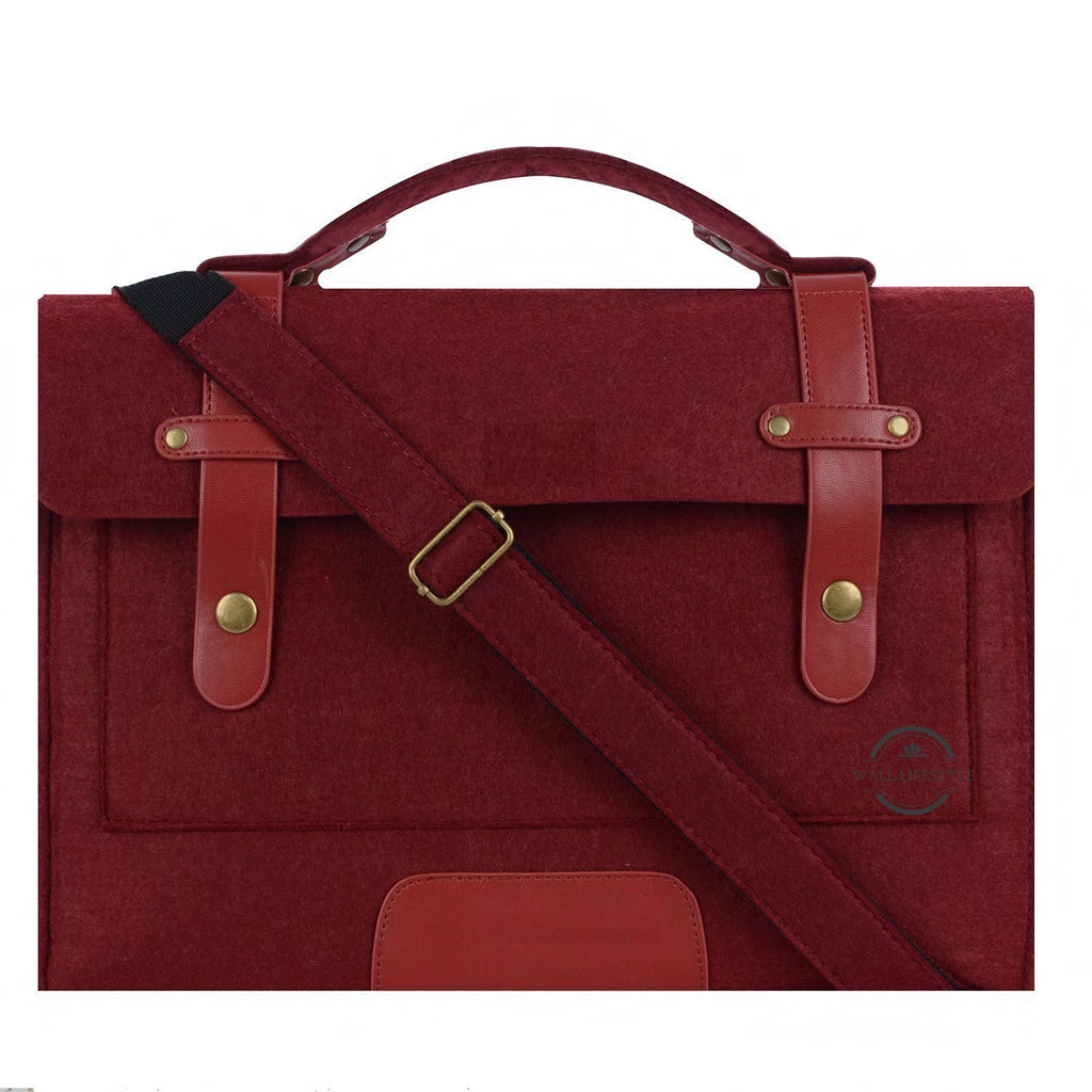 Dark Red Laptop Bag - East Watch Collection