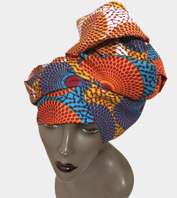 AFRICAN FABRIC HEAD WRAP