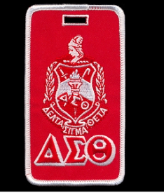 Delta Sigma Theta Embroidered Crest Luggage Tag