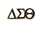 Delta Sigma Theta Greek Letter Gold Pin