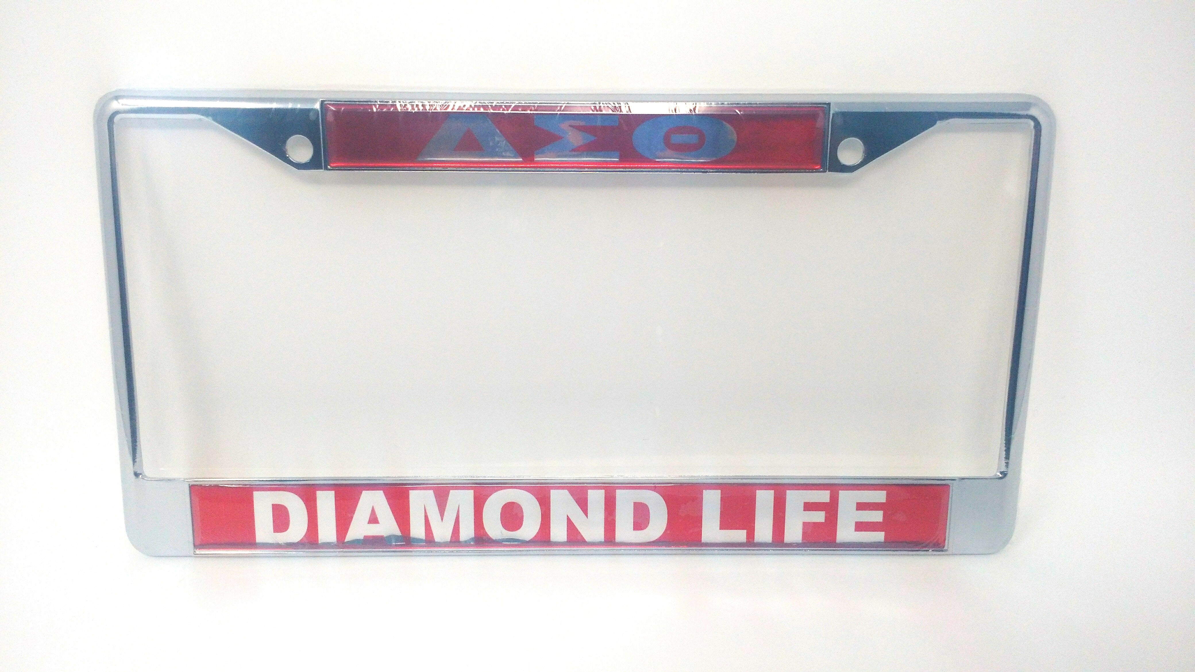 Delta Sigma Theta Mirror License Plate Frame – Diamond Life