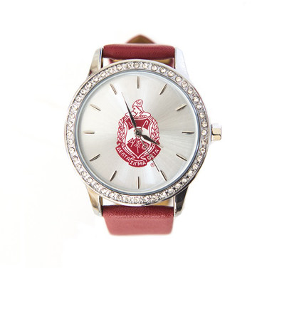 Delta Sigma Theta Leather Band Watch