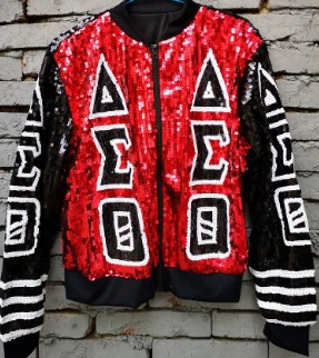 Delta Sigma Theta Greek Letter Sequin Jacket