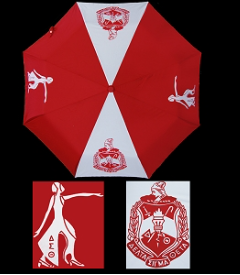 Delta Sigma Theta Small Red Auto Open Umbrella