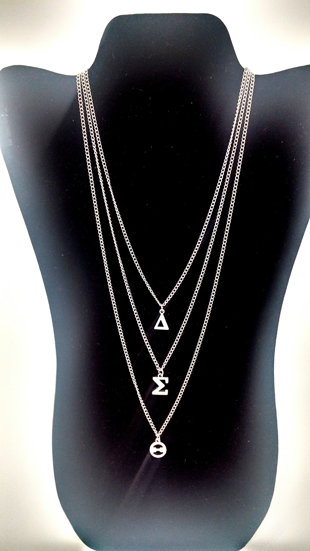 Delta Sigma Theta Greek Letter Layered Necklace