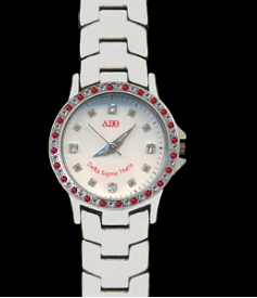 Delta Sigma Theta Stainless Steel Watch