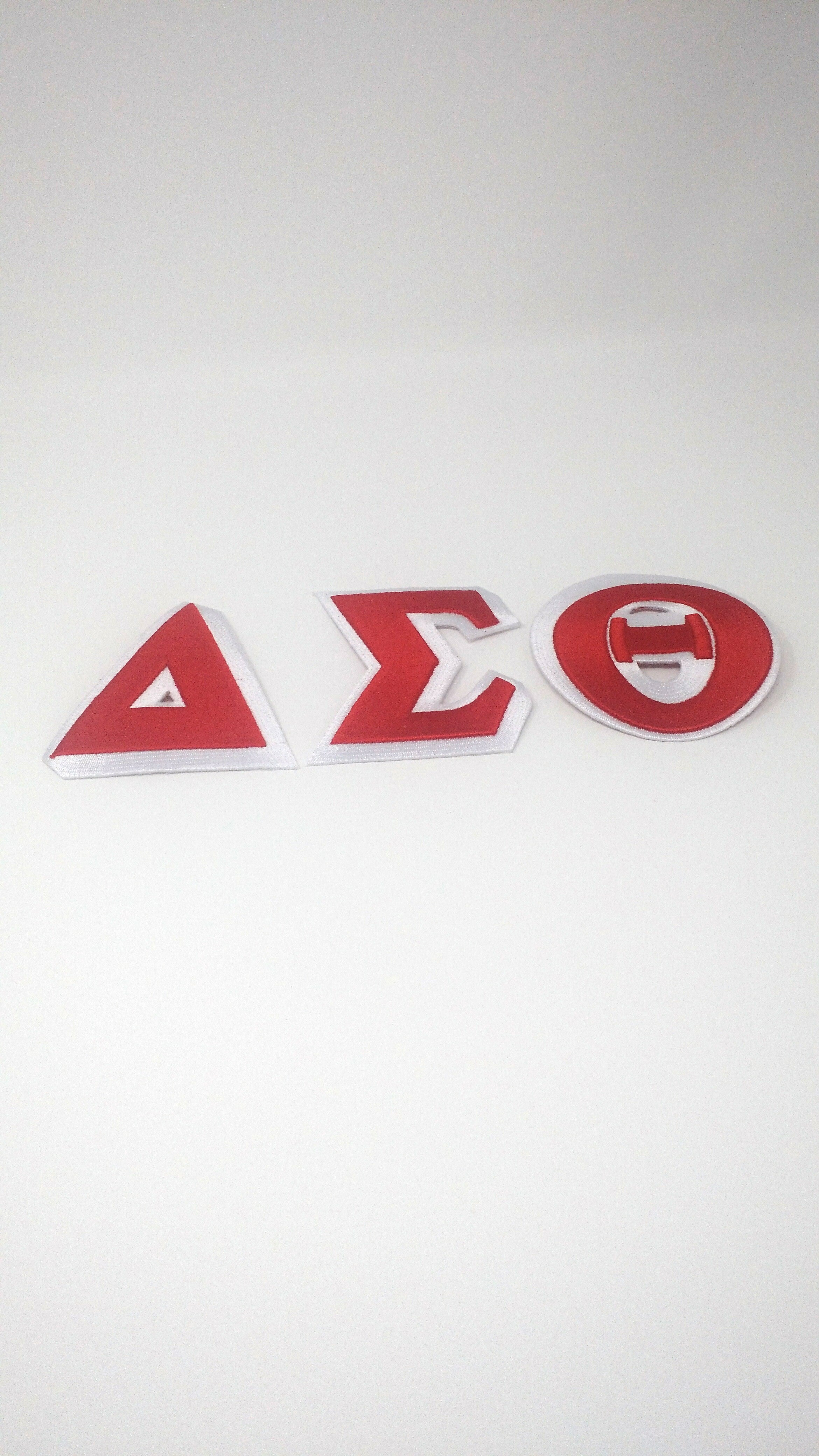 Delta Sigma Theta 3 Letter Patch 3 Inch Individual Letters