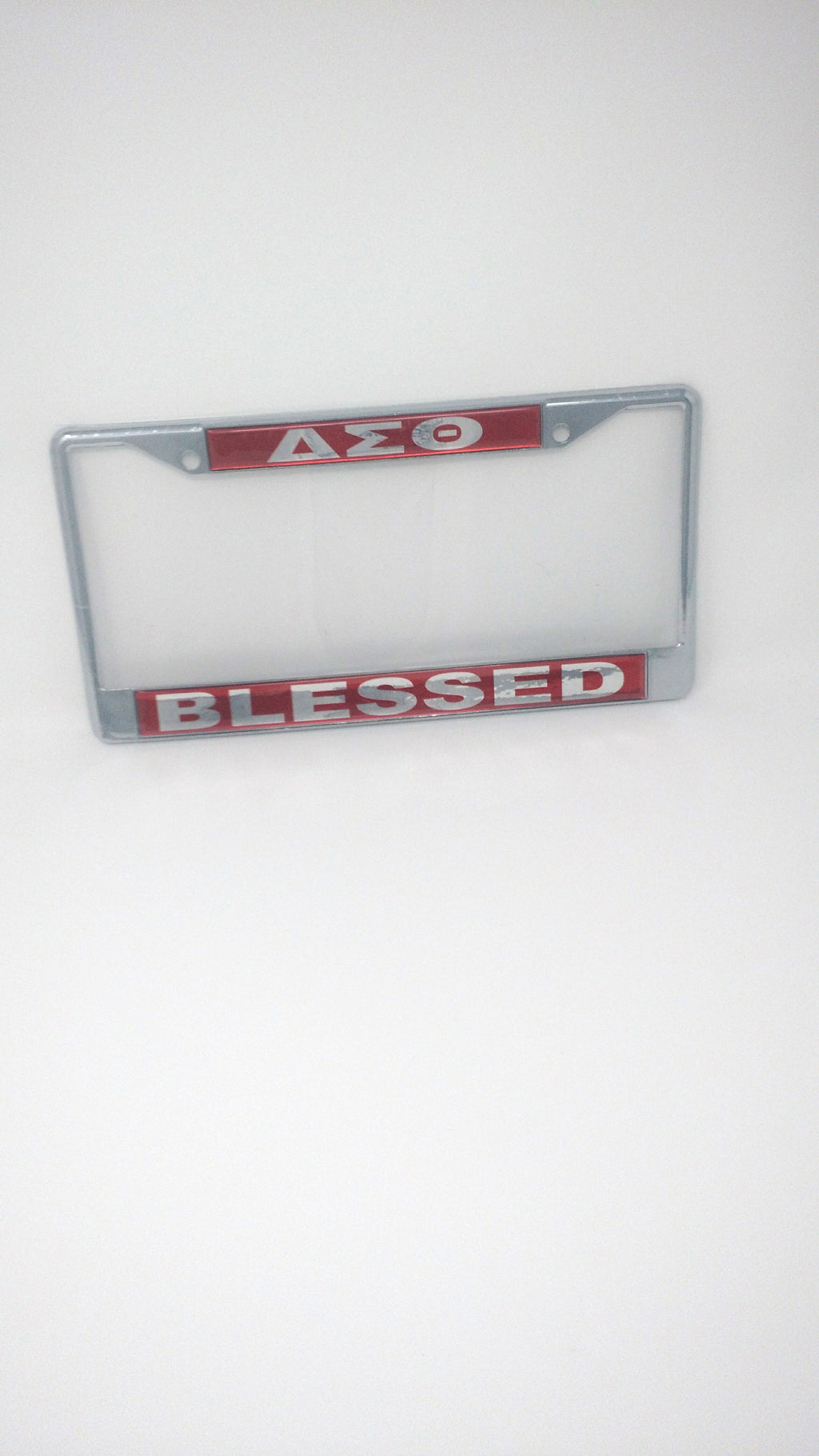 Delta Sigma Theta Mirror License Plate Frame - Blessed