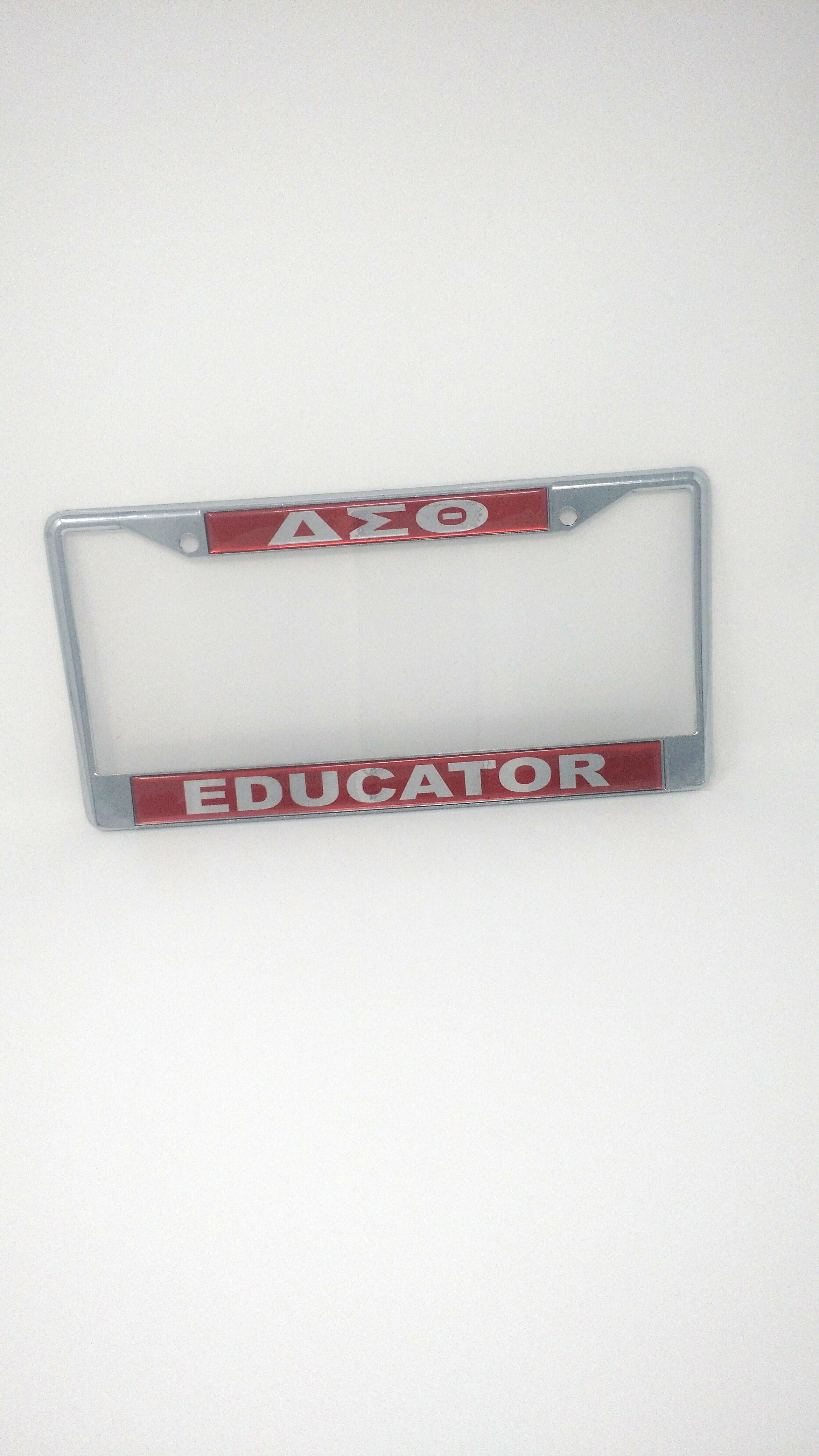 Delta Sigma Theta Mirror License Plate Frame – Educator