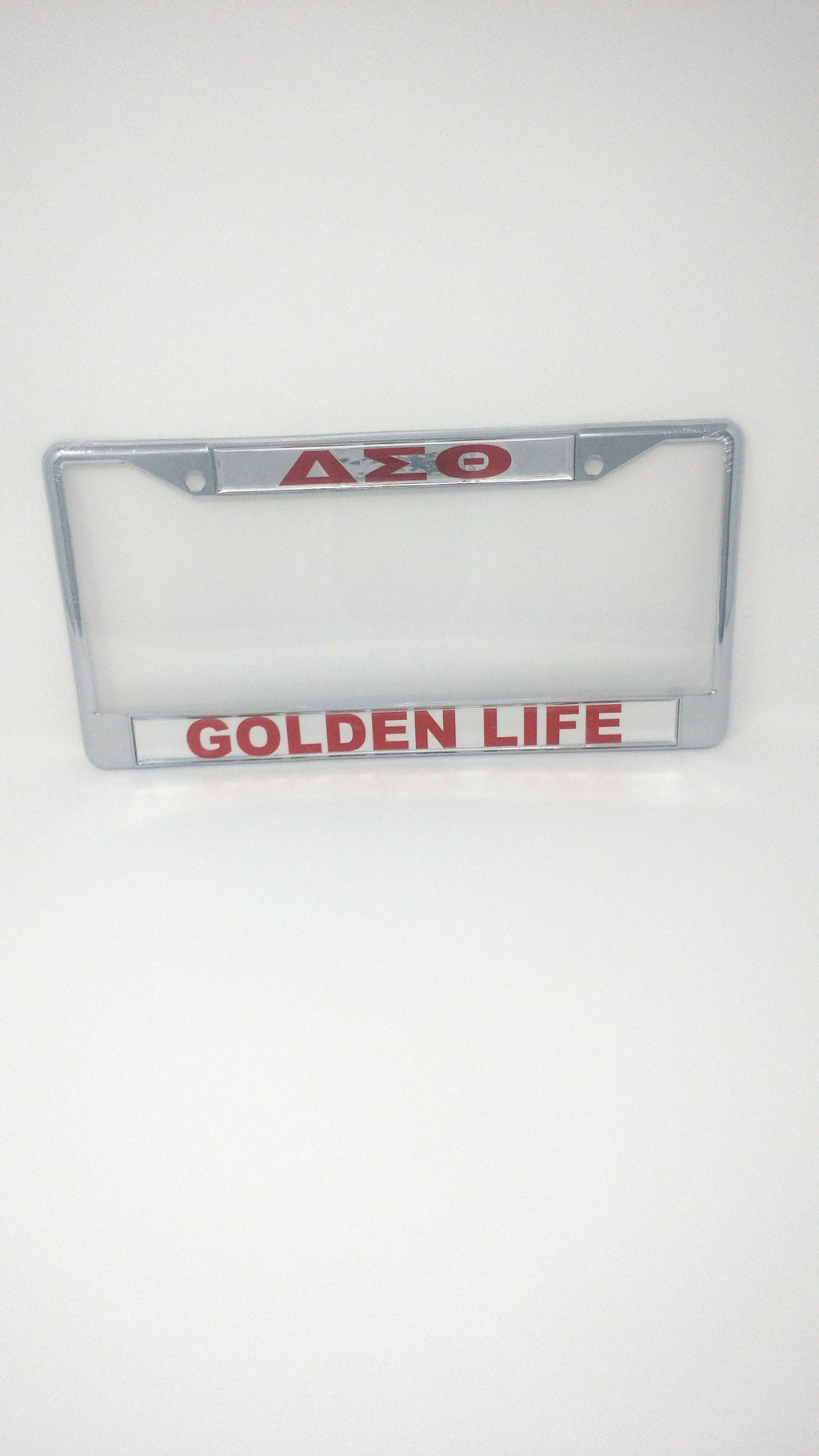 Delta Sigma Theta Mirror License Plate Frame – Golden Life