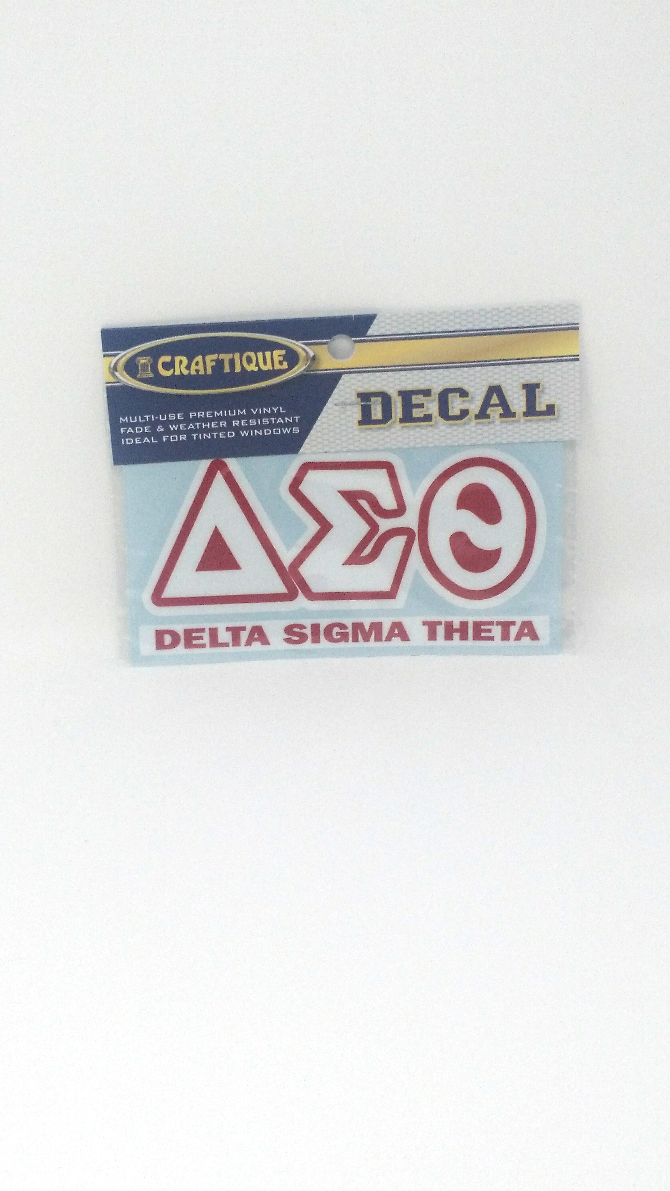 Delta Sigma Theta Greek Letter Decal