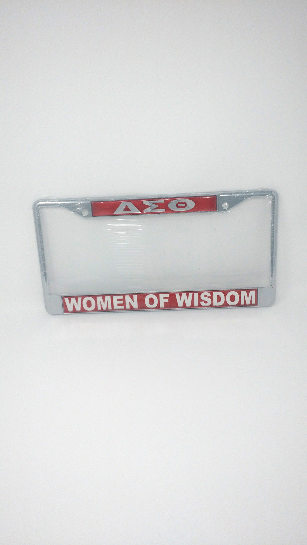 Delta Sigma Theta Mirror License Plate Frame – Women of Wisdom