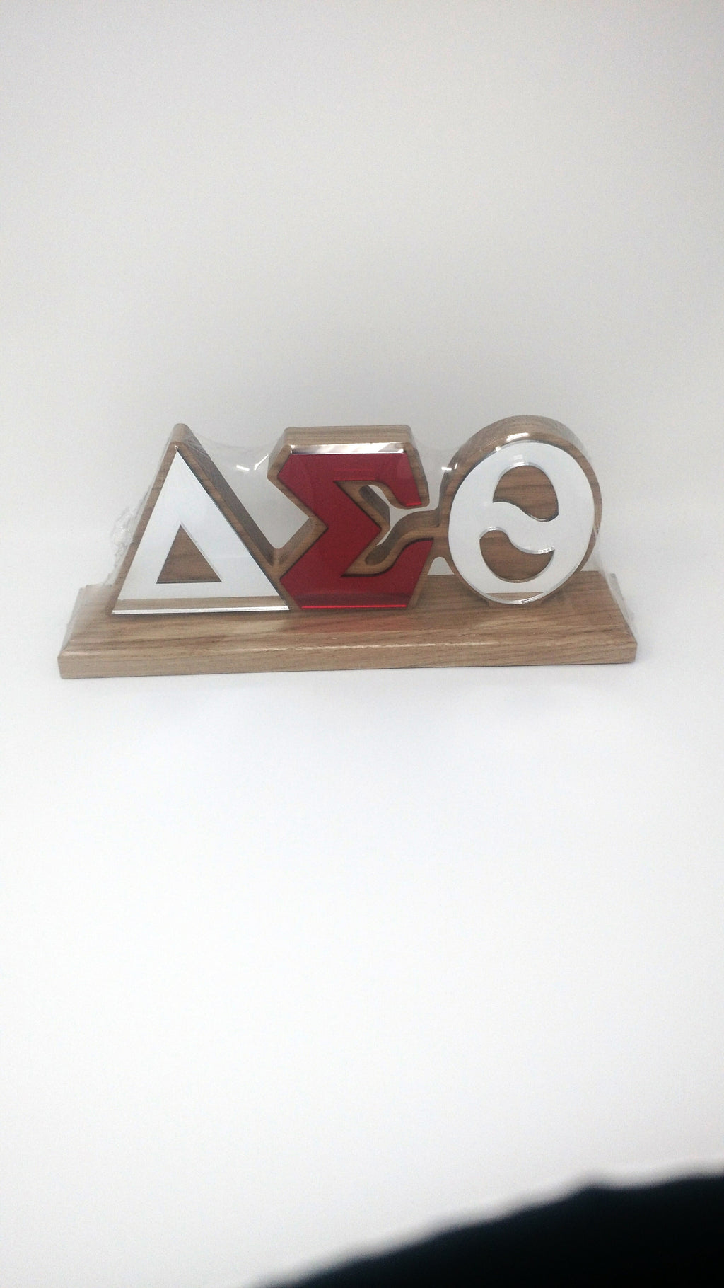 Delta Sigma Theta Wood Desk Top Letters
