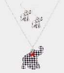 Elephant Necklace and Earring Set