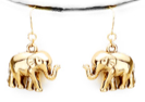 ELEPHANT EARRINGS- GOLD