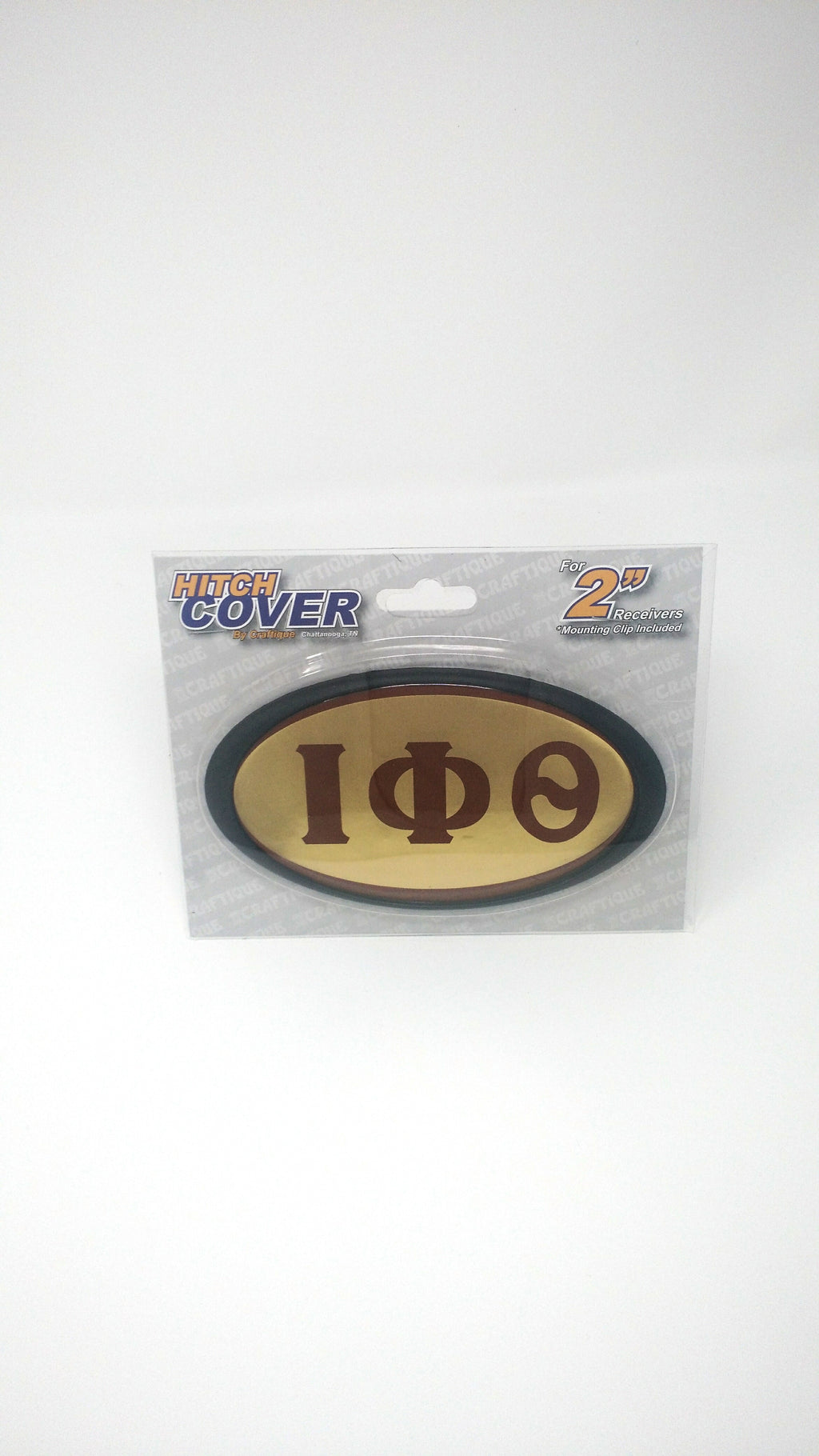 "Iota Phi Theta Car Hitch Cover. Standard 2"" hitch cover."