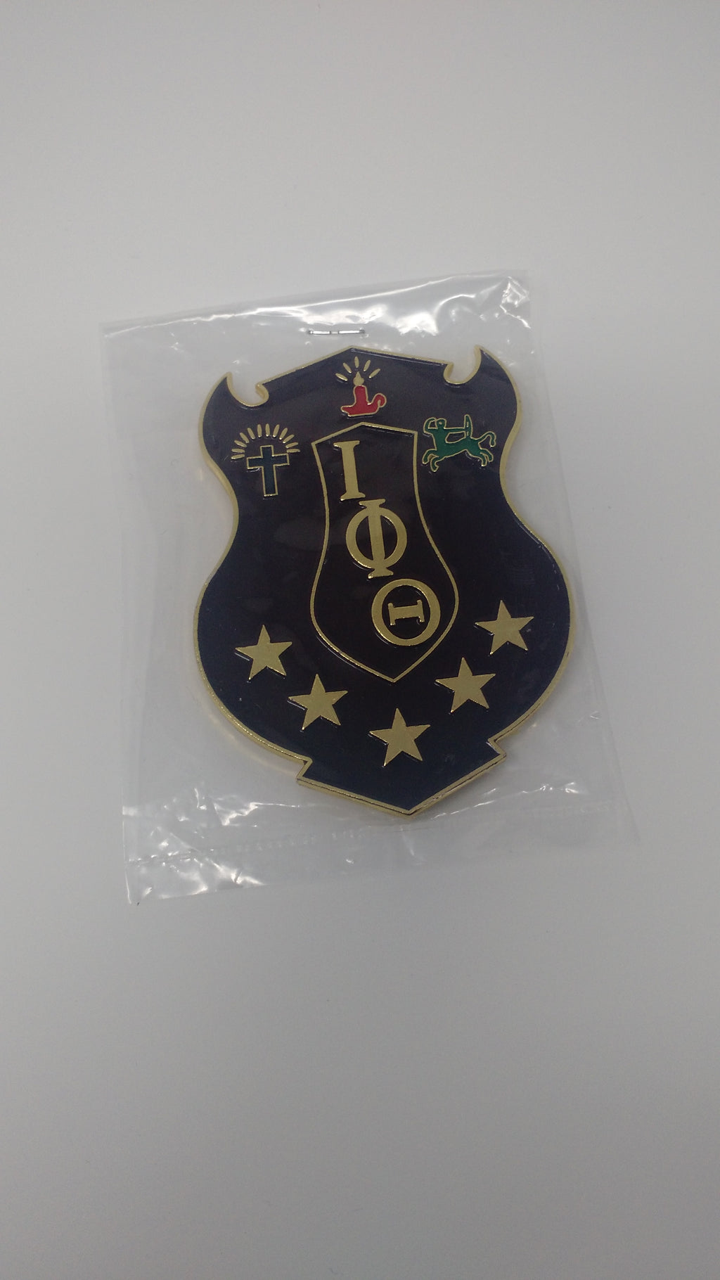 Iota Phi Theta Shield Car Badge